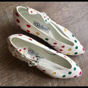 Cutest white with Polka Dot Shoes